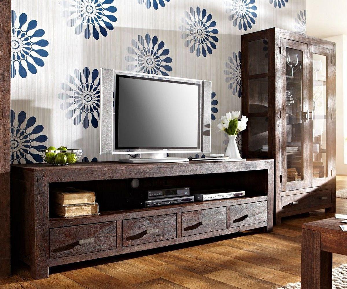 fernsehtisch guru akazie tabak 200x55 4 sch be lowboard by wolf. Black Bedroom Furniture Sets. Home Design Ideas